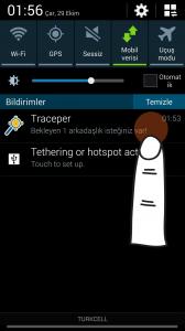 Traceper, arkadaşlık isteği aldığınızda telefonunuzun bildirim ekranından size uyarı verir.