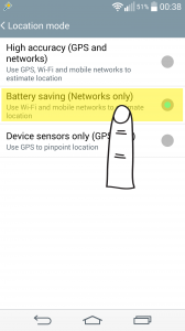 """Battery saving"" is the best option to send your location data. To obtain your location data it uses wi-fi connection (if present) or mobile line. While sending, it does this with the same resource. Traceper recommends this option."