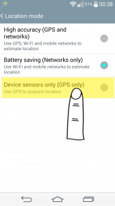 This option uses GPS to obtain your location data. But it uses wi-fi connection (if present) or mobile line to send your location data to server.
