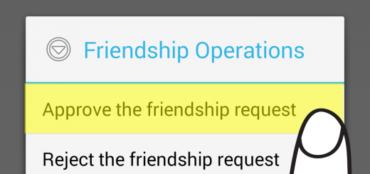 "If you want to accept the request, please click on ""Approve the friendship request"" option."