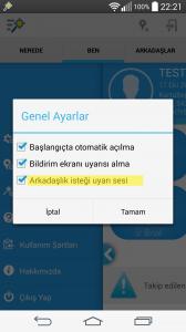 Bu seçenek bir kullanıcı size arkadaşlık isteği gönderdiği zaman sesli bir uyarı alıp almayacağınızı sorar.